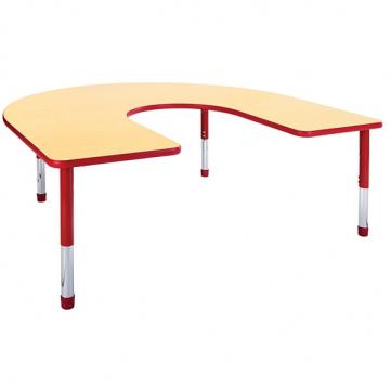 Hercules Horseshoe Table with Educational Edge