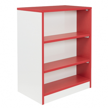 Stax Double Mobile Bookcase with Custom Markerboard Sides