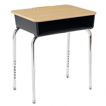 Standard Desk with Metal Bookbox