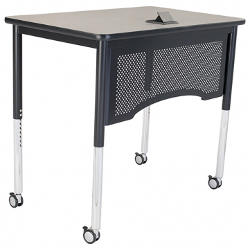 Vantage Desk with optional casters & power port