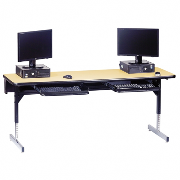 T-Leg Table with Keyboard Tray