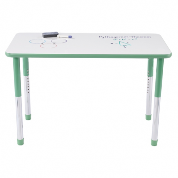 Rectangular Hercules Table with custom marker-board laminate & with Educational Edge