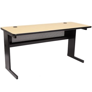 C-Leg Computer Table with Grommets
