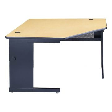 C-Leg Corner Computer Table with Grommets