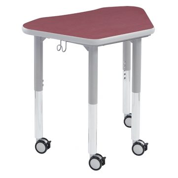Petal Jr. Desk w/ Casters & Hook