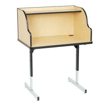 Single Study Carrel with top shelf