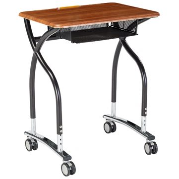 Adjustable V2 Desk w/ Mesh Bookbox & Casters